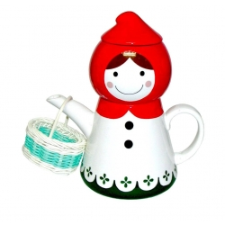 Ceramic Tea for One Red Riding Hood Set