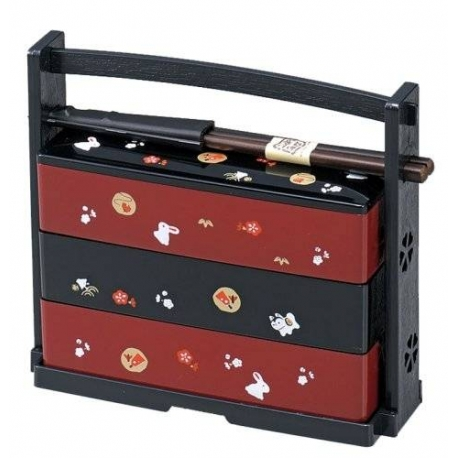 japanese bento box lunch 3 tier rabbit for bento box all. Black Bedroom Furniture Sets. Home Design Ideas
