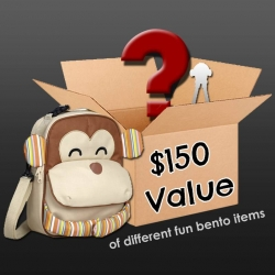 Holidays Special Mystery Bento Supplies with Monkey Insulated Lunch Backpack