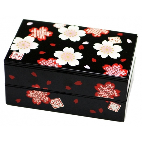 bento lunch box 2 black chary design for out of stock. Black Bedroom Furniture Sets. Home Design Ideas