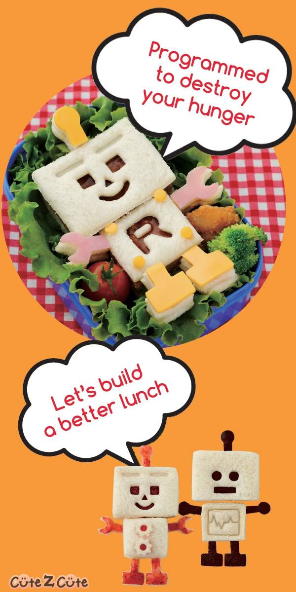Robo Bread Robot Sandwich Cutter, great for boys