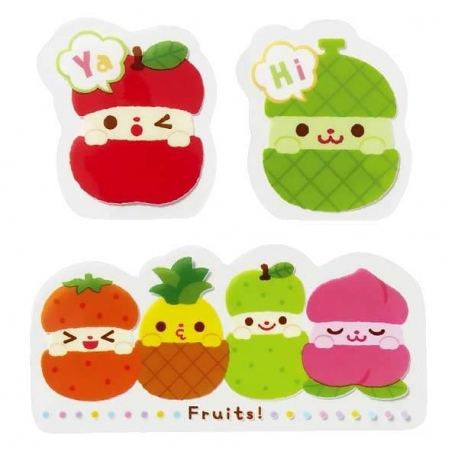 Microwavable Bento Baran Food Decorative Sheet Set Fruit 12P