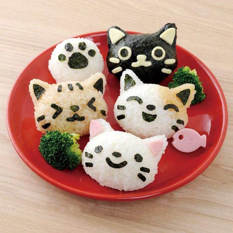Japanese 3d Cat Bento Rice Mold And Seaweed Nori Cutter