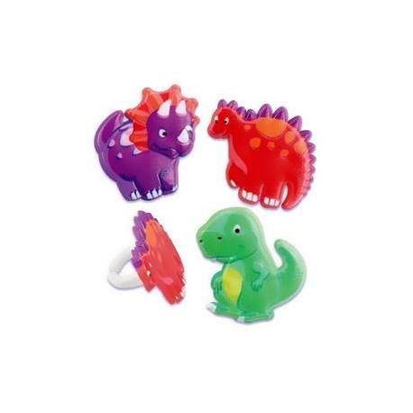 Food Decorating Ring Cute Dinosaur Set
