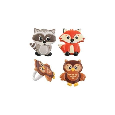Food Decorating Ring Cute Woodland Animal Set