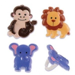 Food Decorating Ring Cute Zoo Animal Set