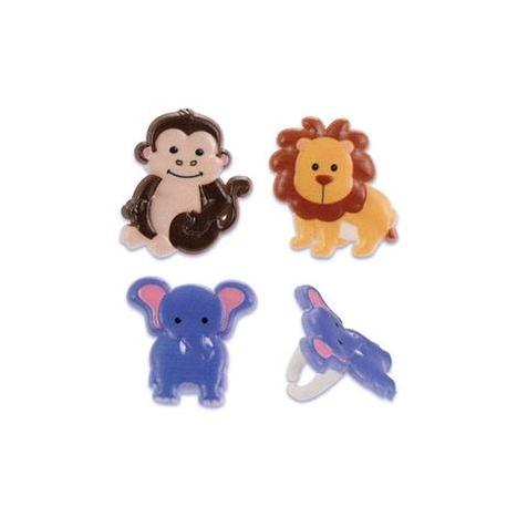 Food Decorating Ring Cute Zoo Animal Set
