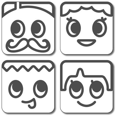 Japanese Tofu Food Stamper Funny Faces