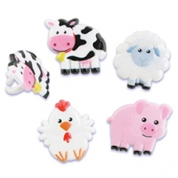 Food Decorating Ring Cute Farm Animal Ring Set