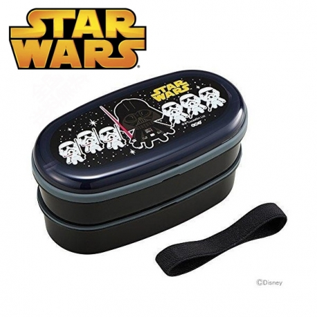 Star Wars 2-Tier Bento Lunch Box Set with Chopsticks Elastic Strap