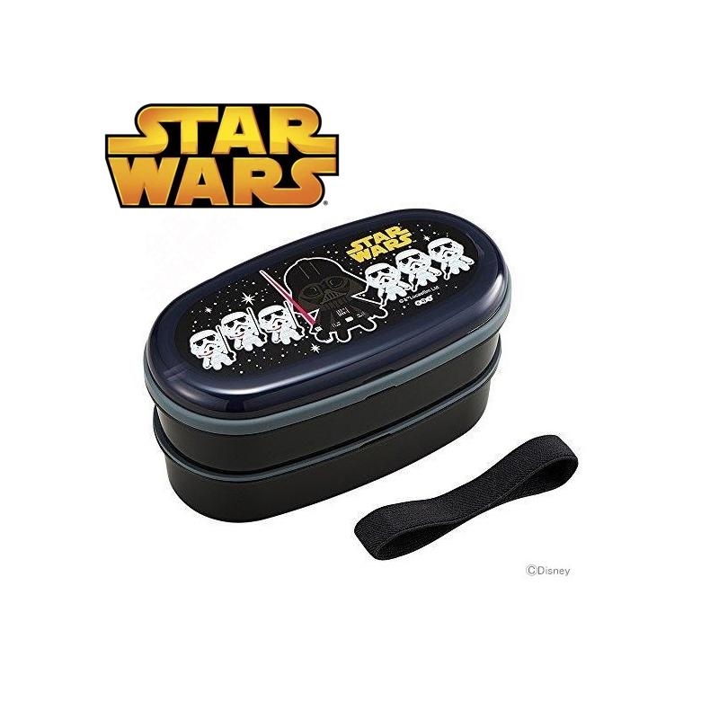 star wars 2 tier bento lunch box set with chopsticks elastic strap. Black Bedroom Furniture Sets. Home Design Ideas