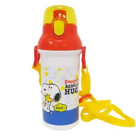 snoopy one touch water bottle 480ml for bento accessory all. Black Bedroom Furniture Sets. Home Design Ideas