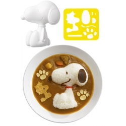 Bento Rice Mold and Cutter Set for Curry - Snoopy