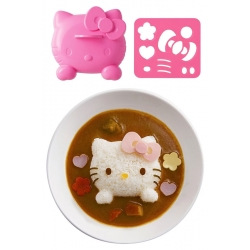 Bento Rice Mold and Cutter Set for Curry - Hello Kitty