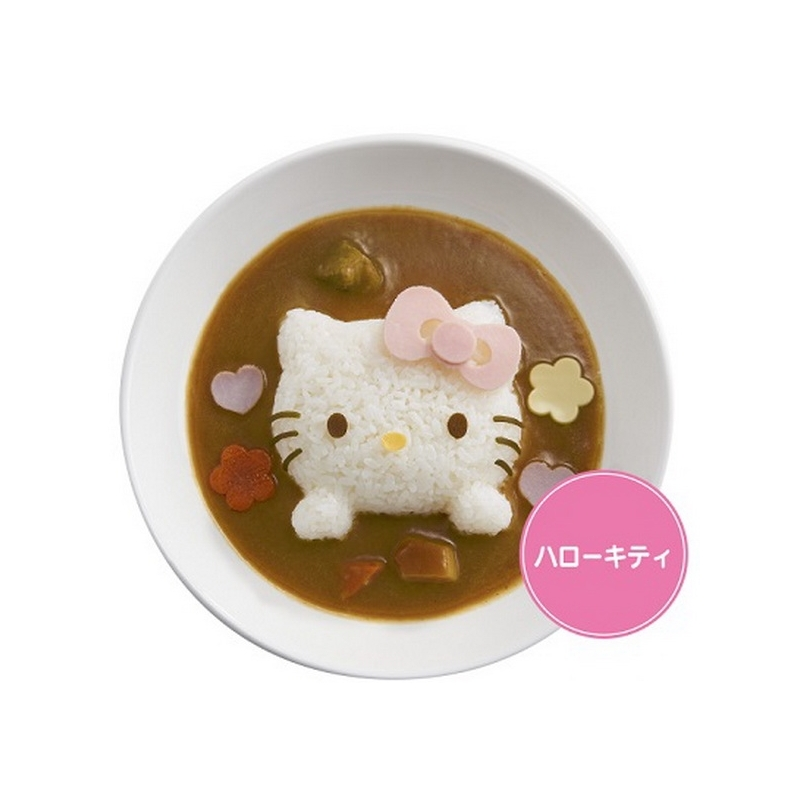 bento rice mold and cutter set for curry hello kitty for egg mol. Black Bedroom Furniture Sets. Home Design Ideas