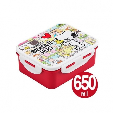 snoopy 4 lock bento lunch box 650ml for bento box all. Black Bedroom Furniture Sets. Home Design Ideas