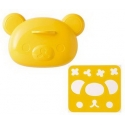 Bento Rice Mold and Cutter Set for Curry - Rilakkuma Bear