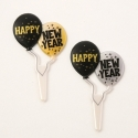 Food Decorating Pick Happy New Year Balloon Pick