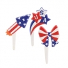 Food Decorating Pick Americana USA Firework Food Pick