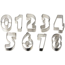 Bento Ham Cheese Cookie Cutter with Case - Number 0-8