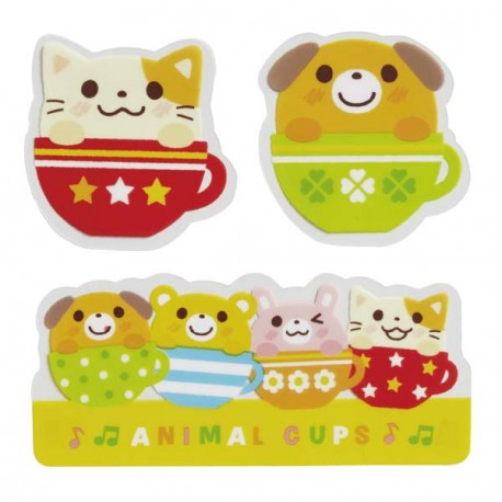 Microwavable Ag+ Bento Baran Sheet 12P Animal Tea Cups