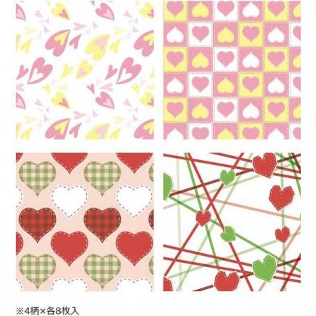 Cute Print Wax Paper Sandwich Wrapping Sheets 32 pcs
