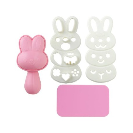 Japanese Bento Rice Mold and Seaweed Nori Cutter Set Rabbit Easter bento