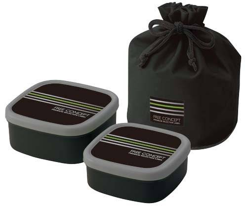 nested food container 2pcs with bag for bento box all. Black Bedroom Furniture Sets. Home Design Ideas