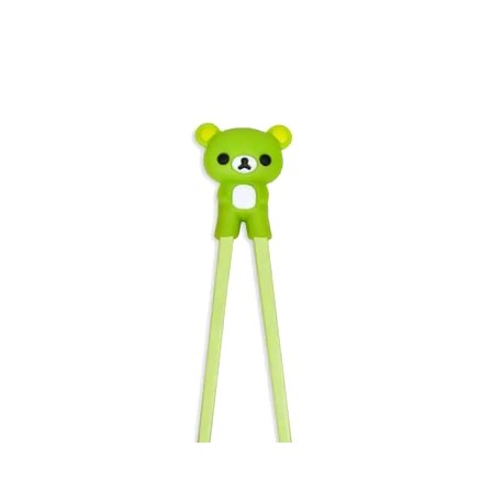 Japanese Assisted Chopsticks 3D Green Bear