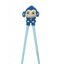 Japanese Assisted Training Chopsticks Silicone Monkey Blue