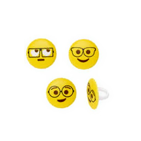 Food Decorating Ring Funny Glasses Emoticons