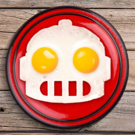 Silicone Egg Mold Sunny Side Up Egg Robot shape