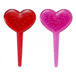 Food Decorating Pick Puffy Pick Glitter Heart