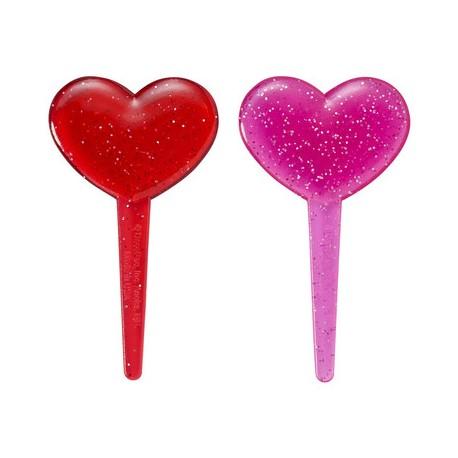 Food Decorating Pick Puffy Pick Glitter Heart