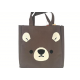 Japanese Bento Accessories Bento Bag Cute Animal Face Brown Bear