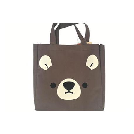 Japanese Bento Accessories Bento Bag Cute Animal Face Brown Bear