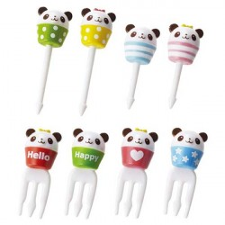 Japanese Panda Cup Cute Food Picks for Bento Decoration