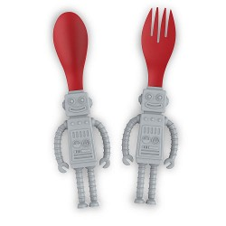 Yum Bots Robot Kids Spoon and Fork Set