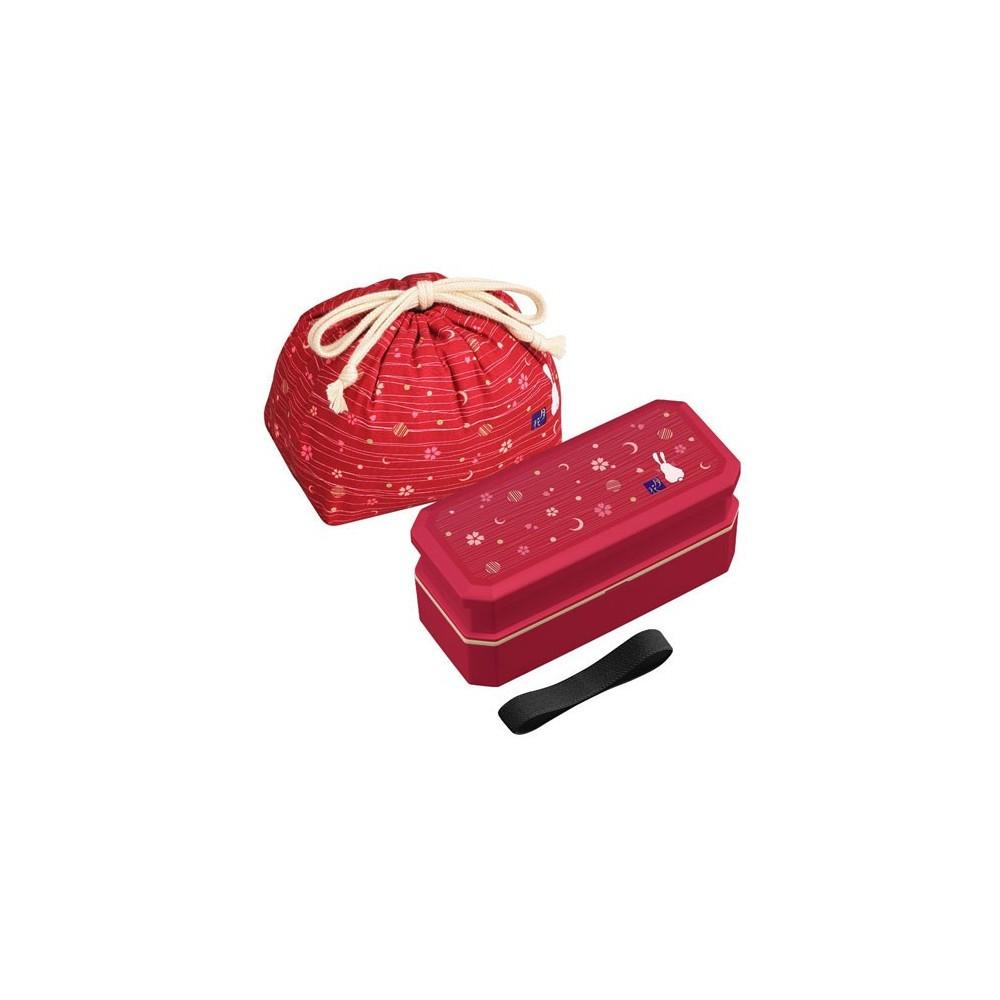 bento lunch box designer set red rabbit set rectangle 700ml for ra. Black Bedroom Furniture Sets. Home Design Ideas