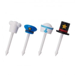Japanese Bento Accessory Food Pick 3D Hat 8 pcs