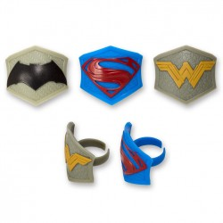 Food Decorating Party Ring Topper Batman Superman Wonder Woman