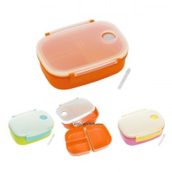 3 Sections Vacuum Airtight Bento Lunch Box 600ml