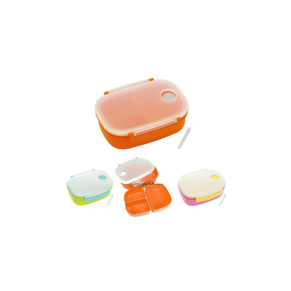 3 sections vacuum airtight bento lunch box 600ml for bento box all. Black Bedroom Furniture Sets. Home Design Ideas