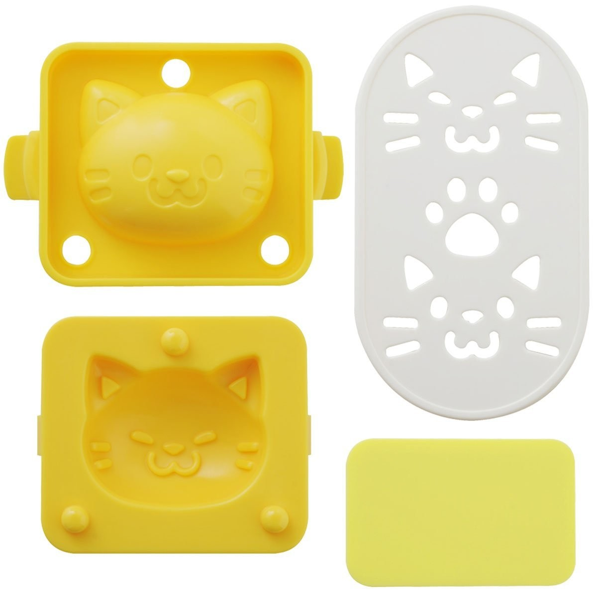 egg mold set with seaweed cutter cat shape for egg mold rice mold. Black Bedroom Furniture Sets. Home Design Ideas