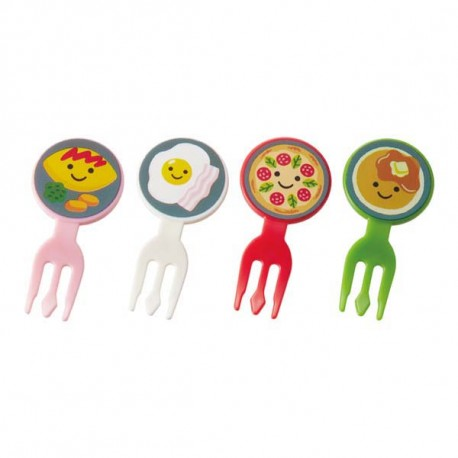 Japanese Bento Flat Fork Food Pick Cooking Designs