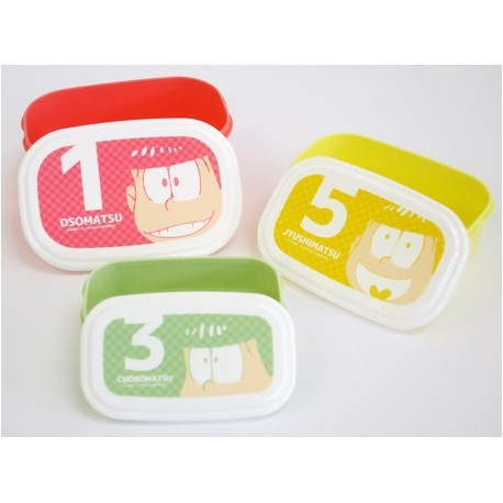 Microwavable 3 Nested Containers Bento Boxes Osomatsu