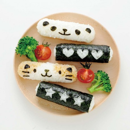 Deco Stick Rice Ball Mold and Animal Cheese Cutter Set with Case