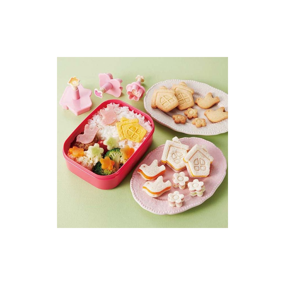 Japanese Bento Accessories Sandwich Cutter House Bird Flower For D
