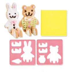 Japanese Bento Cookie Cutter Set 3D Bear Rabbit