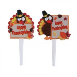 Food Decorating Party Pick Happy Thanksgiving Message